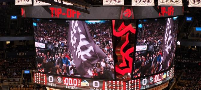 NBA観戦inトロント。コービー引退でレイカーズ戦見たかったけど、今日の試合は面白かった!