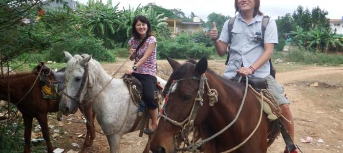 【キューバ15日目-1】乗馬からの自転車でビニャーレス近郊周遊。タカさんのお尻に異変!?【前編】