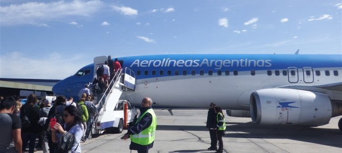 ブエノスアイレスから飛行機で移動。次の目的地は?