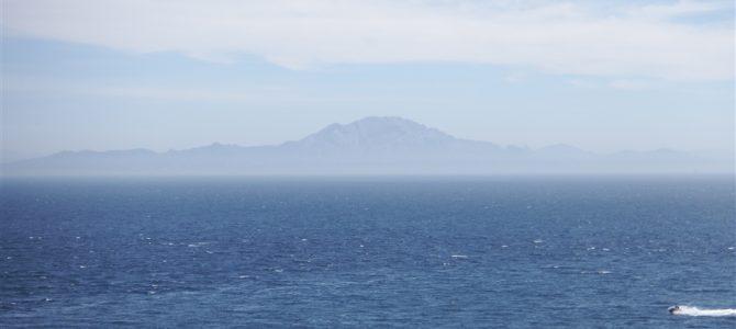 【スペイン&ポルトガル車旅Day15-2】ジブラルタルからのアフリカ大陸の景色。アフリカは次の目的地です。