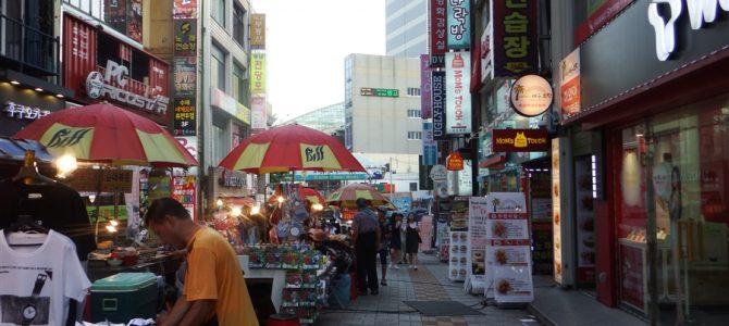 夏の釜山、繁華街「南浦洞」観光。そして、ホテルに帰ると謎の手紙